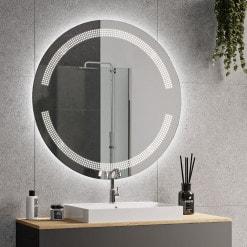 Badezimmerspiegel rund mit Beleuchtung - OPHELIA