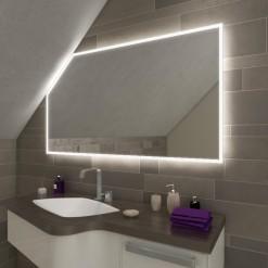 LED Badspiegel mit Dachschräge - Namek SDS011