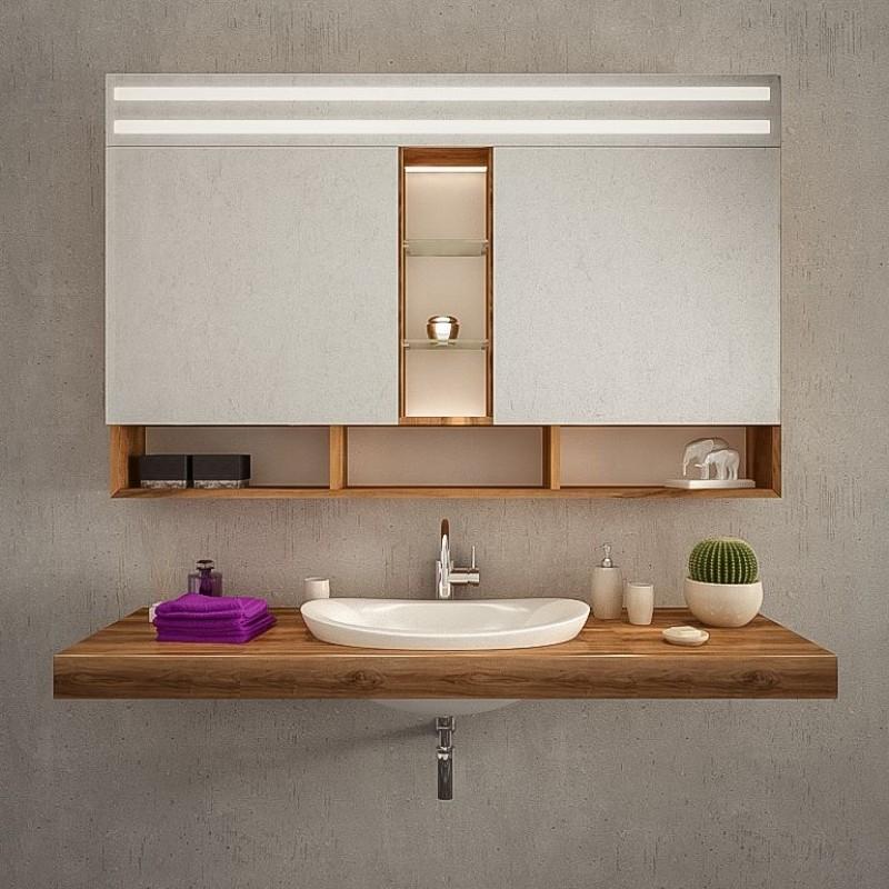 Spiegelschrank Bad mit Beleuchtung kaufen   Adana   Spiegel21