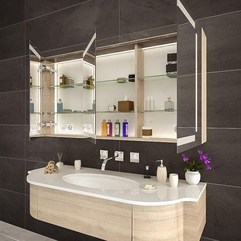Spiegelschrank Badezimmer mit Beleuchtung kaufen   Spiegel21